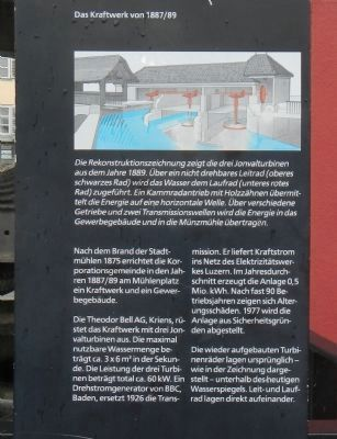 Mühlenplatz (Mill Place) Marker, panel 3 image. Click for full size.