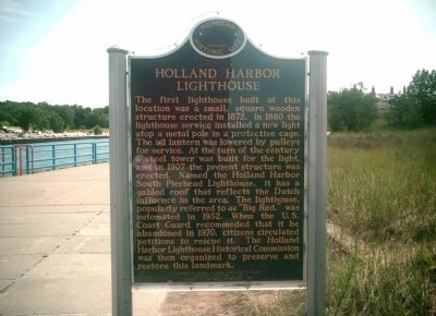 Side 2 - Holland Harbor / Holland Harbor Lighthouse Marker image. Click for full size.