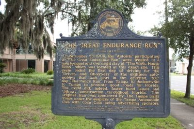 """The Great Endurance Run"" Marker image. Click for full size."