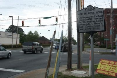 Odd Fellows Home Marker seen at East Ash Street (US 70 Bus.) at Herman Street image. Click for full size.