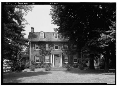 Woodlawn Manor HABS MD,16-NORWO,1-1 image. Click for full size.