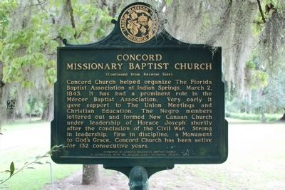 Concord Missionary Baptist Church Marker-Side 2 image. Click for full size.