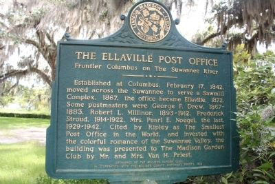 The Ellaville Post Office Marker image. Click for full size.