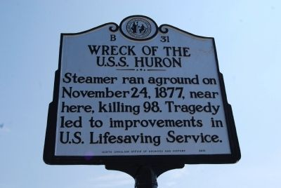 Wreck of the U.S.S. Huron Marker image. Click for full size.