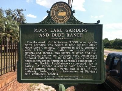 Moon Lake Gardens and Dude Ranch Marker image. Click for full size.