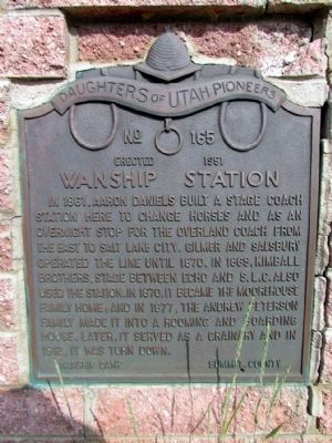 Wanship Station Marker Photo, Click for full size
