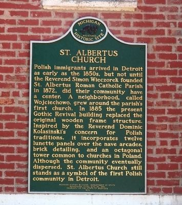 St. Albertus Church Marker image. Click for full size.
