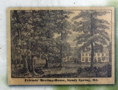 Friends Meeting House, Sandy Spring , Md. Photo, Click for full size
