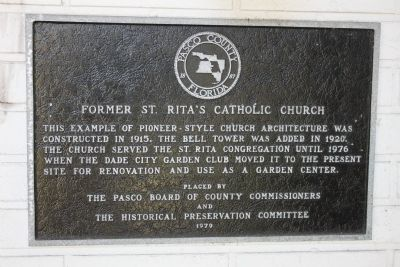 Former St. Rita's Catholic Church Marker image. Click for full size.