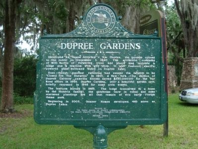 Dupree Gardens Marker image. Click for full size.