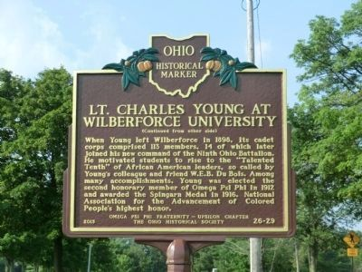 Side 2 - Lt. Charles Young at Wilberforce University Marker image. Click for full size.