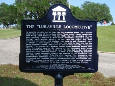 "The ""Luraville Locomotive"" Marker image. Click for full size."