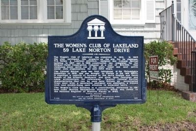 The Women's Club of Lakeland Marker image. Click for full size.