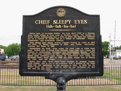 Chief Sleepy Eyes Marker image. Click for full size.