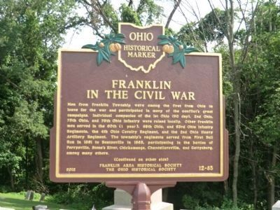 Franklin In The Civil War Marker image. Click for full size.