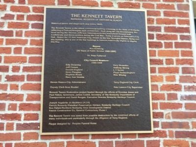 The Kennett Tavern Marker image. Click for full size.