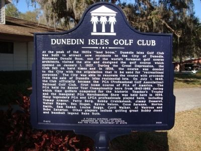 Dunedin Isles Golf Club Marker image. Click for full size.