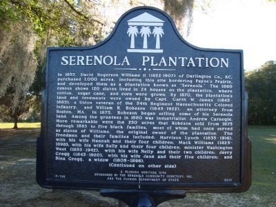 Serenola Plantation Marker (side 1) image. Click for full size.