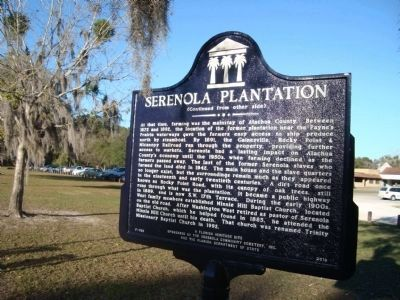 Serenola Plantation Marker (side 2) image. Click for full size.