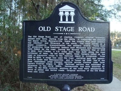 Old Stage Road Marker Photo, Click for full size