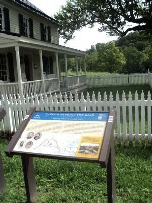 Marker at the Newcomer Farm House image. Click for full size.