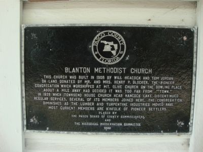 Blanton Methodist Church Marker image. Click for full size.