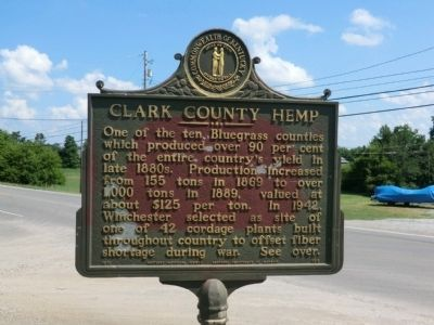Clark County Hemp Marker image. Click for full size.