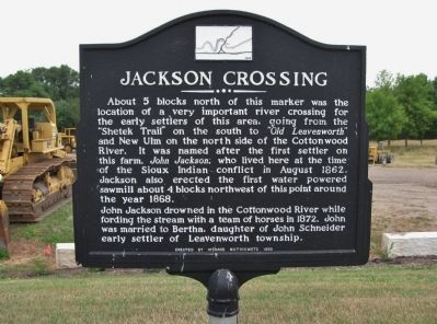Jackson Crossing Marker image. Click for full size.