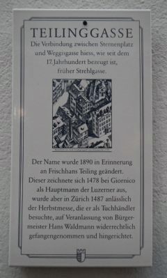 Teilinggasse Marker image. Click for full size.