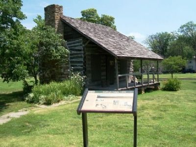 Dietrich Cabin (1859) and Marker image. Click for full size.