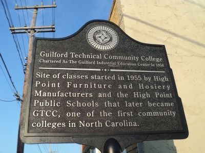 Guilford Technical Community College Marker image. Click for full size.
