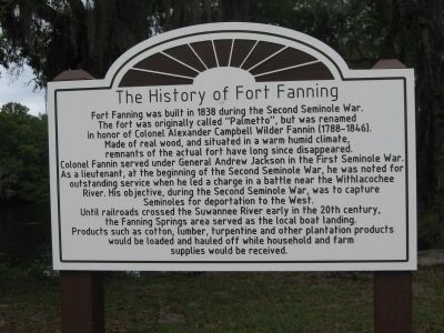 The History of Fort Fanning Marker image. Click for full size.