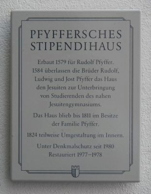 Pfyffersches Stipendihaus Marker image. Click for full size.
