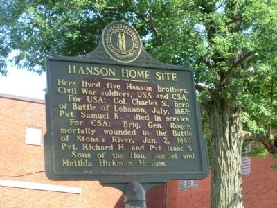 Hanson Home Site Marker image. Click for full size.