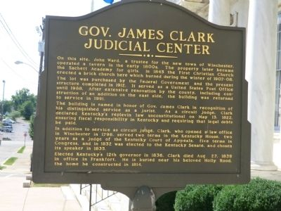 Gov. James Clark Judicial Center Marker image. Click for full size.