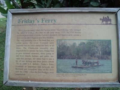 Friday's Ferry Marker image. Click for full size.