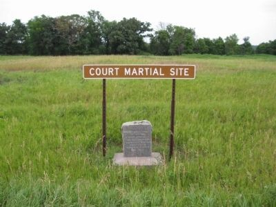 Court Martial Site and Marker image. Click for full size.