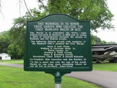 The First Mahkato Memorial Wacipi Marker Photo, Click for full size