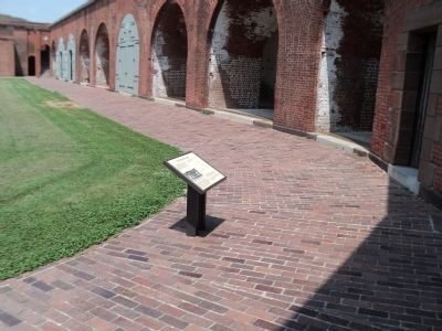 Marker Inside Fort Pulaski image. Click for full size.