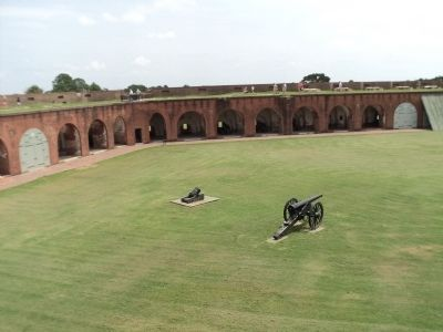 Inside Fort Pulaski image. Click for full size.