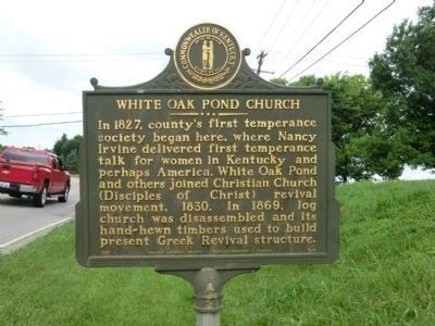 Side 2 - White Oak Pond Church Marker image. Click for full size.