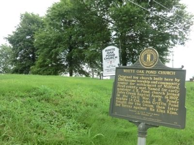 White Oak Pond Church Marker image. Click for full size.