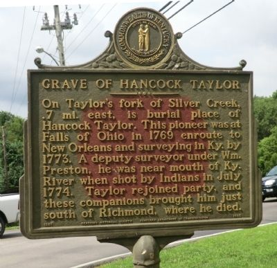 Grave of Hancock Taylor Marker image. Click for full size.