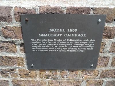Model 1859 Seacoast Carriage Marker image. Click for full size.