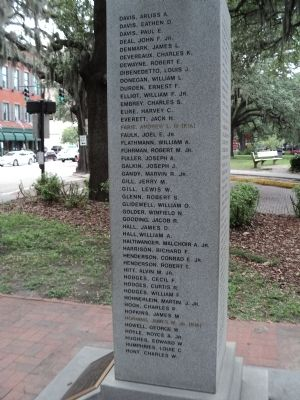 Savannah Marine Korean War Monument (Right Side) image. Click for full size.