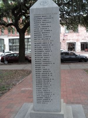 Savannah Marine Korean War Monument (Back) image. Click for full size.