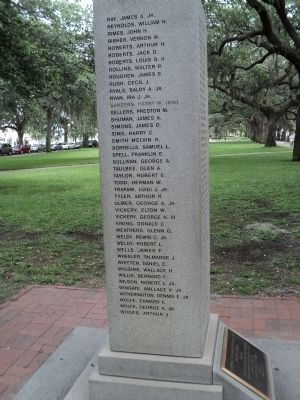 Savannah Marine Korean War Monument (Left Side) image. Click for full size.