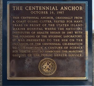 The Centennial Anchor Marker image. Click for full size.