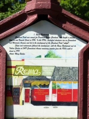 Roma Restaurant Marker Photo, Click for full size