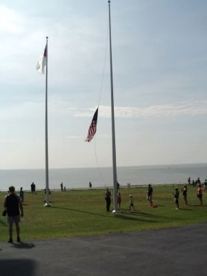 Raising the Flags at Fort Sumter image. Click for full size.